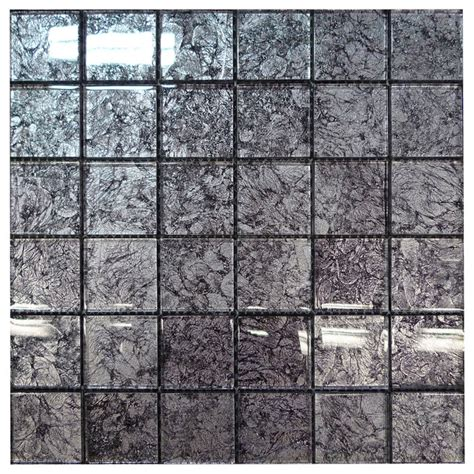 w29 black silver glass mosaic contemporary tile los