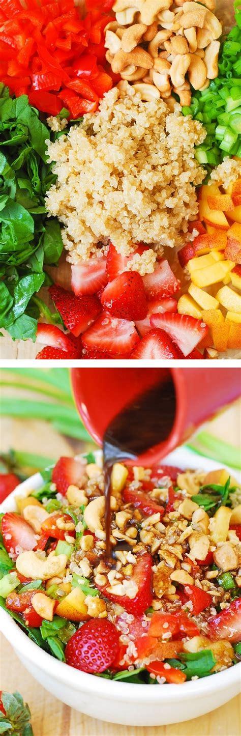 kochen mit obst sommersalat mit quinoa und obst salate und dressings