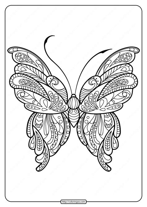 printable butterfly mandala coloring pages