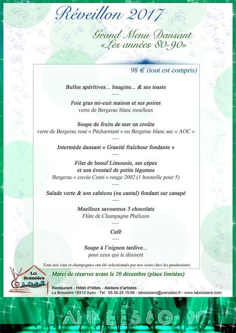 Chambres D Hotes Bergerac - la boissière restaurant réveillon sylvestre 2017