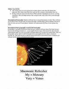 8th Grade Science Lesson Plans Solar System - ms ess1 2 ...
