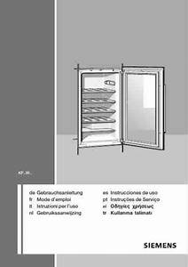 Siemens Kf18wa41 Fridge   Refrigerator Download Manual For