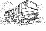 Coloring Truck Semi Dump Mercedes Pages Colornimbus sketch template