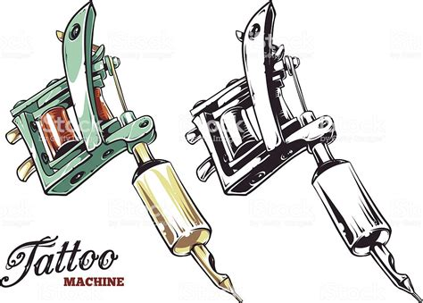 Tattoo Machine Vector Stock Vector Art & More Images Of