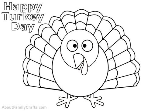 Turkey Template Printable Templates For Thanksgiving Happy Easter