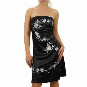 la robe de soiree noire brodee argent sur bustiers et corsets With robe noire brodée