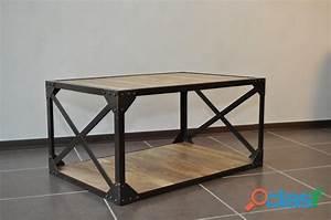 Table Bois Massif Metal : table basse industrielle acier offres mai clasf ~ Teatrodelosmanantiales.com Idées de Décoration