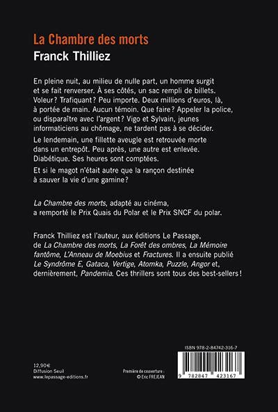 Franck Thilliez La Chambre Des Morts La Chambre Des Morts Les 233 Ditions Le Passage