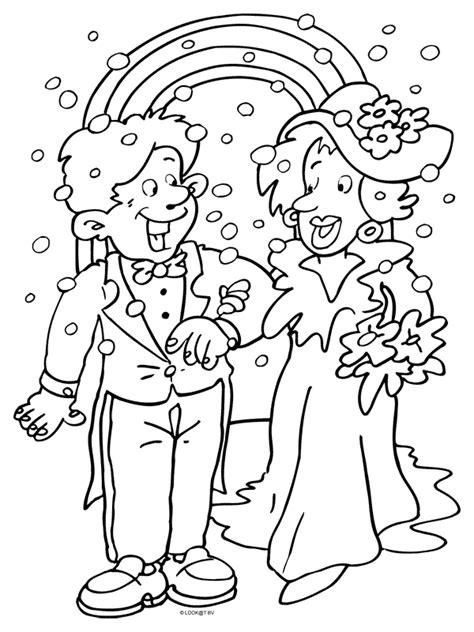 50 Jaar Huwelijk Kleurplaat by Kleurplaat Trouwen Huwelijk Kleurplaten Nl