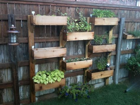 Vertical Garden Boxes by Vertical Wooden Box Planter The Owner Builder Network