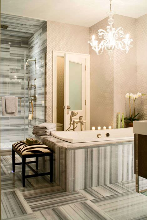 Bathroom Wallpaper by 30 Bathroom Wallpaper Ideas Shelterness