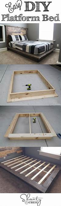 how to make a platform bed frame DIY Furniture Project Plan from Shanty2Chic: Learn How to ...