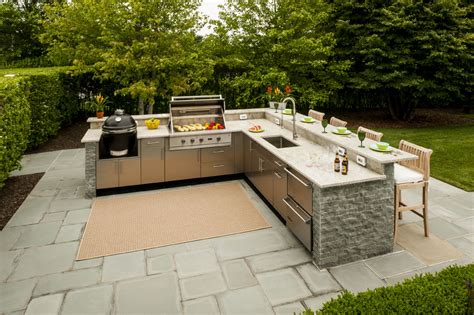 shaped outdoor kitchen design inspiration danver