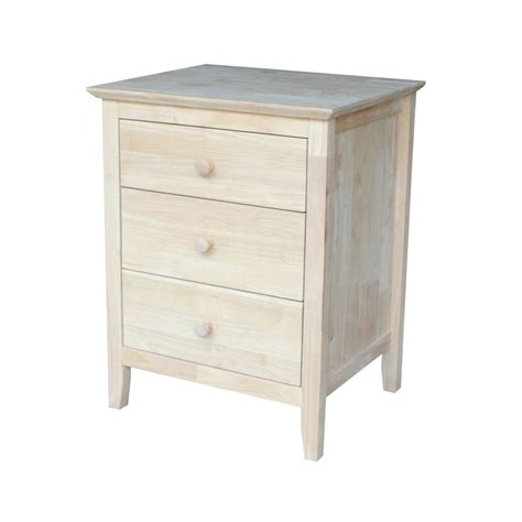 Nightstand With Drawers by International Concepts Nightstand With 3 Drawers