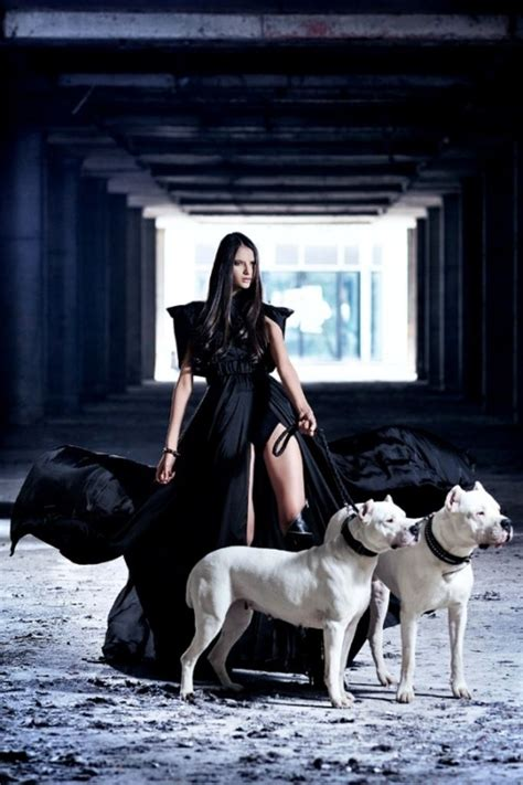 dogs walking dog lady fall pit bull walker woman years dressed american marinka pitbulls campaign balic jelena argentino another chains