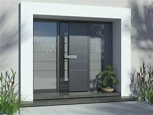 Haustüren Mit Viel Glas : haust ren aluminium in grau moderne alu haust ren mit ~ Michelbontemps.com Haus und Dekorationen