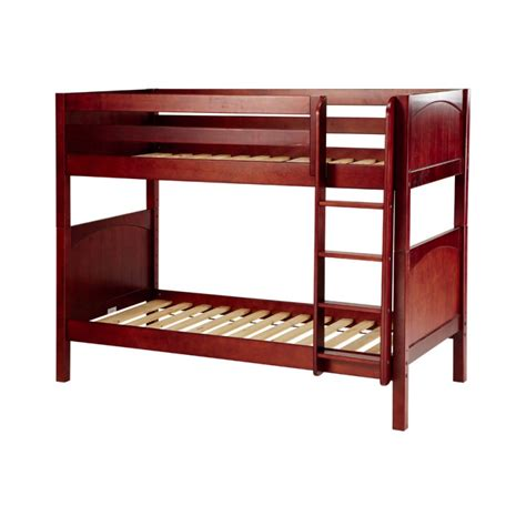 getit twin over twin bunk bed with ladder solid maple
