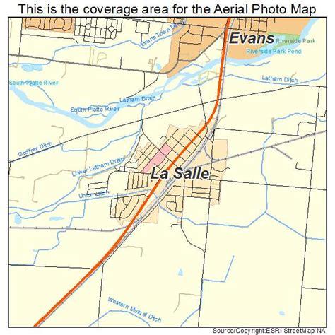 aerial photography map of la salle co colorado