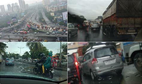 mumbai rain local trains traffic  roads  news