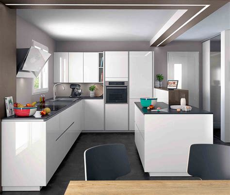modele cuisine en u ambiance moderne mobalpa