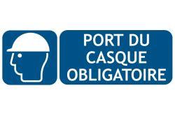 port du casque obligatoire affichage de panneaux et autocollants d obligation pour la s 233 curit 233 serenne