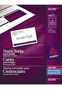 averyr 05390 name badge inserts 2 1 4 x 3 1 2 white With avery name badge inserts 5390