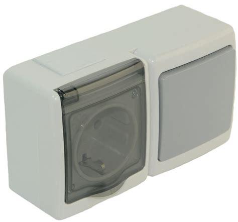 schalter steckdosen kombination schalter steckdosen kombination mit klappdeckel aufputz