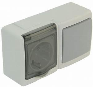 Historische Schalter Steckdosen : schalter steckdosen kombination mit klappdeckel aufputz ip44 grau ~ Markanthonyermac.com Haus und Dekorationen