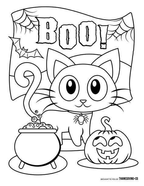 Free Halloween Coloring Pages For Kids (or For The Kid In You) Thanksgivingcom