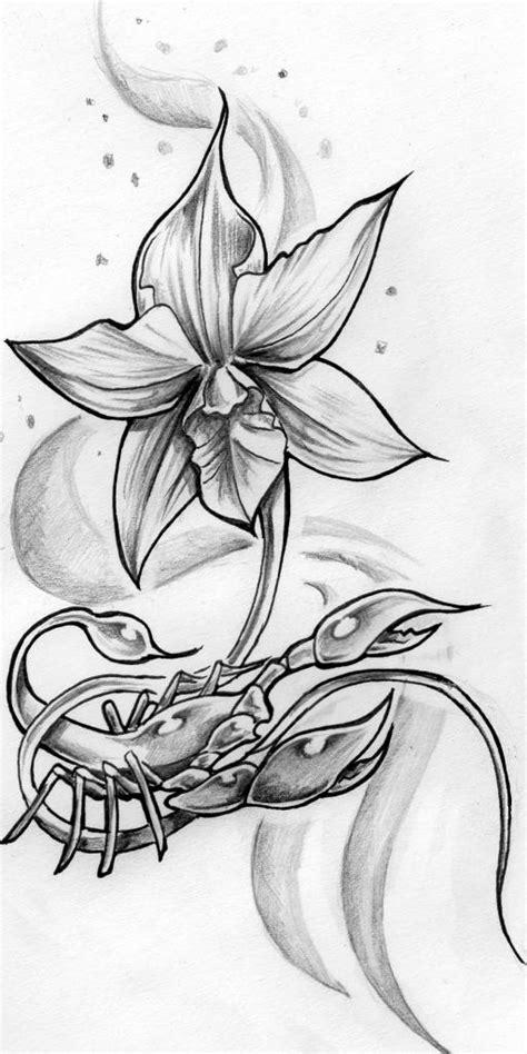 un amour de cuisine tatouage scorpion orchidee