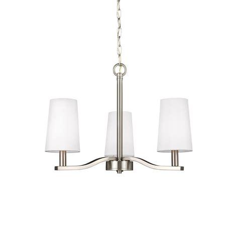 sea gull lighting chandelier sea gull lighting nance 3 light brushed nickel chandelier