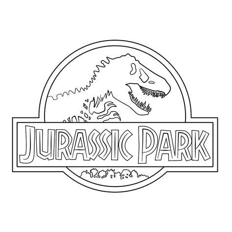 Dinosaurus Kleurplaat Jurrasic World leuk voor jurassic park logo