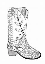 Coloring Cowboy Boot Boots Adult Pages Drawing Line Cowgirl Colouring Printable Cowboys Drawings Books Cowgirls Adults Getdrawings Read Fun Paintingvalley sketch template