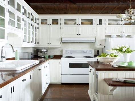 White Ice Appliances White Distressed Kitchen Cabinets