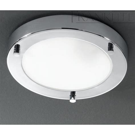 cf5680 flush ceiling light glass chrome