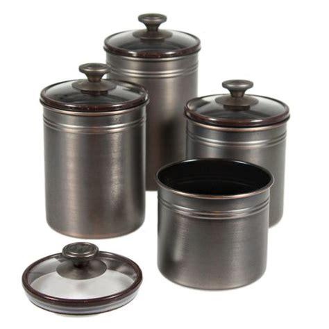 bronze kitchen canisters 10 pc stainless cookware set truefire gourmet cedar