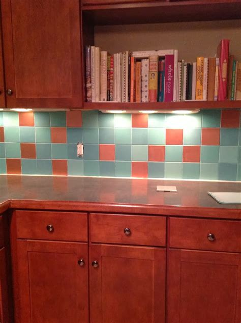 mybluehaven paint  tile backsplash