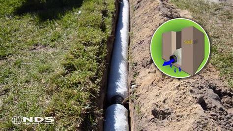 ez drain french drain installation  gravel