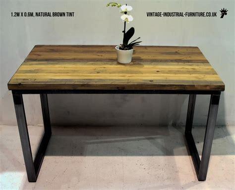 vintage industrial desk l vintage industrial loop leg desk
