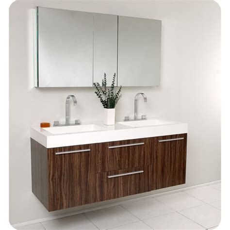 medical cabinets with sink fresca opulento walnut modern double sink bathroom vanity