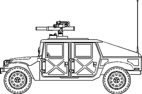 military hummer drawing m1045 m1045a1 m1045a2 hmmwv humvee anti tank missile tow
