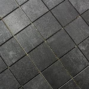 Carrelage Mosaique Pas Cher : mosa que sol et mur nice anthracite carrelage mosaique ~ Dailycaller-alerts.com Idées de Décoration