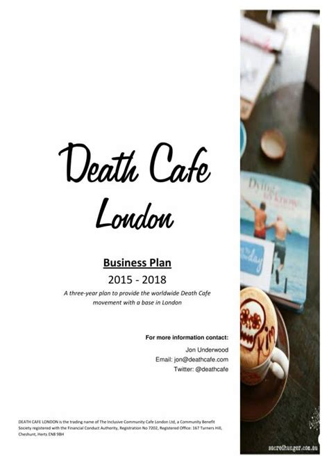 Whether your planning a small coffee shop or kiosk, download this pdf now. FREE 16+ Coffee Shop Business Plan Templates in PDF   MS Word   Google Docs   Pages