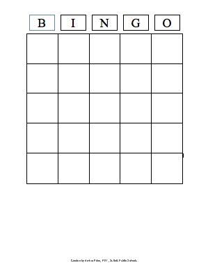 bingo game template ezklessonscom