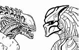 Predator Alien Vs Drawing Coloring Movie Pages Line Sci Fi Printable Sketch Getdrawings Funny Coloringonly Print Categories sketch template