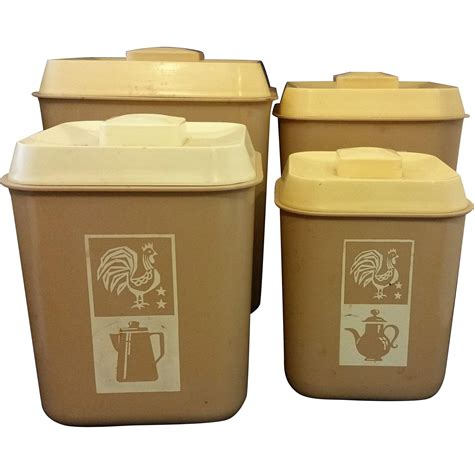 plastic kitchen canisters beige plastic kitchen canister set of 4 rooster