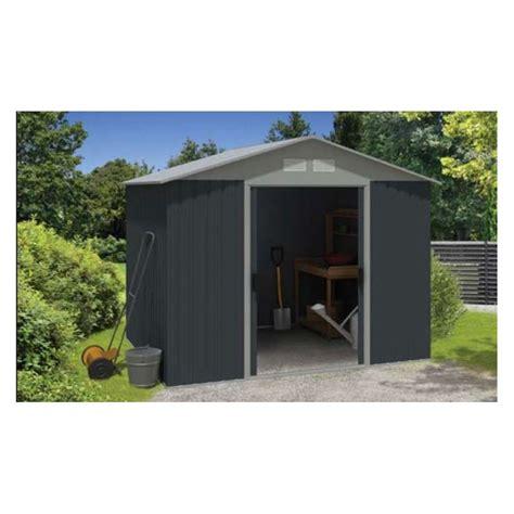 armoire abri de jardin m 233 tallique platinium en acier 0 30mm 233 paisseur