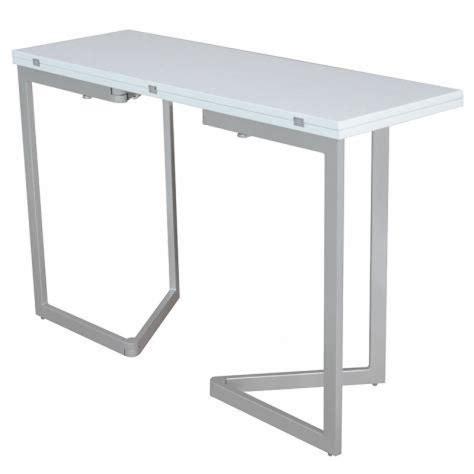 meuble desserte cuisine table console extensible blanche laquée talia achat vente ensemble salle a manger pas cher