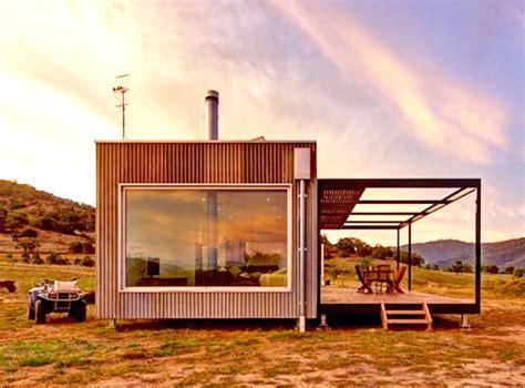 solar powered modular cabin exists completely   grid  australia inhabitat green
