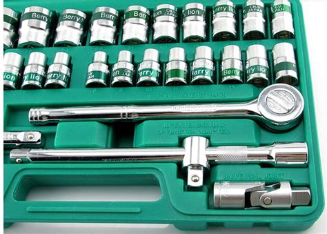 32pcs box spanner socket wrench set crv material sockets